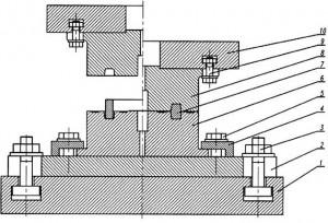 Hình 2. Bản vẽ lắp khuôn dập phôi đai đạn