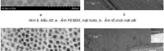 Ảnh hưởng của thời gian và điện thế anốt hóa đến cấu trúc lỗ xốp nanô của màng ôxít nhôm Al2O3