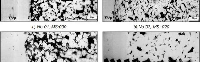 Nghiên cứu công nghệ chế tạo bạc hai lớp trên cơ sở hợp kim đồng BCuSn6Zn6Pb3 nền thép 08s