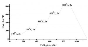 Hình 1. Biểu đồ xử lý nhiệt đối với các mẫu được khảo sát