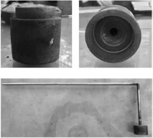 Hình 2. Nồi kim loại trong thí nghiệm xác định góc thấm ướt, liên kết với hệ thống khí nén