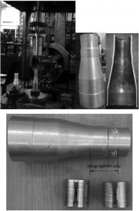 Hình 4. Hệ thống thiết bị thực nghiệm và vùng nghiên cứu trên sản phẩm