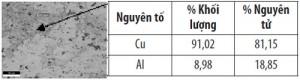 Hình 3.5. Phân tích phổ nguyên tố mẫu sau ram ở 350 oC