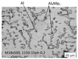 Hình 8. ảnh hiển vi quang học mẫu M18:1150 oC; 15; 0,2lít/phút