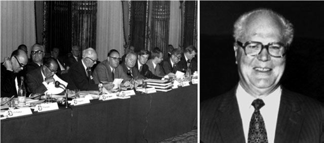 Hình 1. Các nhà sáng lập WSA (trái) và ông C. B. Baker - tổng giám đốc đầu tiên (phải)